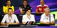 Los representantes de los equipos respondieron ante la prensa - LaF1