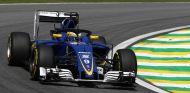 Ericsson, probando el halo durante los primeros libres en Brasil - LaF1