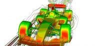 Imagen CFD de un monoplaza de Fórmula 1 - LaF1