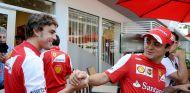Fernando Alonso y Felipe Massa en Singapur - LaF1