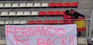 Pancarta de aficionados de Alonso –SoyMotor.com