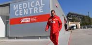 Ferrari no rodará esta tarde en los test tras el accidente de Vettel