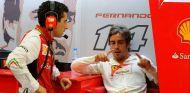 Fernando Alonso conversa con Andrea Stella - LaF1