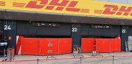 Garaje de Ferrari con biombos en Silverstone - SoyMotor.com
