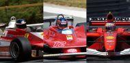 De izquieda a derecha: Reutemann en Gran Bretaña 1978, Villeneuve en el Sudáfrica 1979 y Barrichello en el GP de Mónaco de 2001