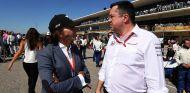 Emerson Fittipaldi y Éric Boullier en Austin - SoyMotor.com