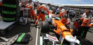 Force India en el GP de Gran Bretaña