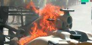 Fuego en el coche de Kevin Magnussen - LaF1