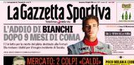 ¿Cómo ha recibido la prensa la noticia de la muerte de Bianchi?