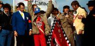 Gilles Villeneuve, Jody Scheckter, Jackie Stewart y la mujer de Gilles, Joanne, en Montreal - SoyMotor.com