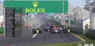 Norris, de último a 6º en el 'No GP de Australia'; Courtois gana a pilotos de F1 - SoyMotor.com