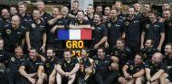Celebraciones de Lotus tras el podio de Grosjean - LaF1