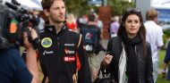 Romain Grosjean y Marion Jollès en Australia 2014 – SoyMotor.com