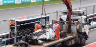 El coche de Grosjean después del accidente –SoyMotor.com