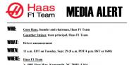 Fragmento del comunicado enviado a los medios de comunicación - LaF1