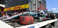 El coche de Lewis Hamilton tras el accidente del GP de Bélgica F1 2019 - SoyMotor.com