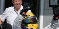 Lewis Hamilton y Ross Brawn en Hungría 2013 - LaF1