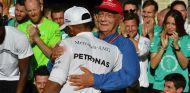 Lewis Hamilton y Niki Lauda en Austin - SoyMotor.com