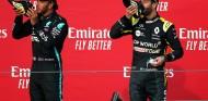 """El 'shoey' de Hamilton que alegró a la madre de Ricciardo: """"Sabe a roña"""" - SoyMotor.com"""
