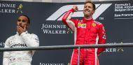 Lewis Hamilton y Sebastian Vettel en Spa-Francorchamps - SoyMotor.com