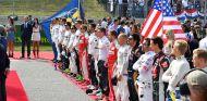 Himno nacional en el GP de Estados Unidos 2016 - SoyMotor