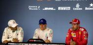 De izq. a der.: Lewis Hamilton, Valtteri Bottas y Sebastian Vettel – SoyMotor.com