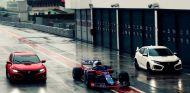 Gasly y Hartley ya conducen sus nuevos Honda Civic Type R - SoyMotor.com