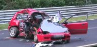 Honda Civic accidentado en Nürburgring