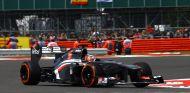 Nico Hulkenberg en Silverstone