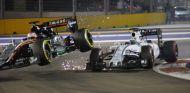 Momento de la colisión entre Hülkenberg y Massa en Singapur - LaF1