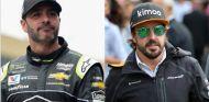 Jimmie Johnson (izq.) y Fernando Alonso (der.) – SoyMotor.com