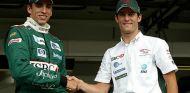 Justin Wilson junto a Mark Webber en su etapa en Jaguar - LaF1