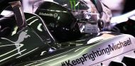 La etiqueta #KeepFightingMichael permanecerá en los Mercedes W05 - LaF1.es