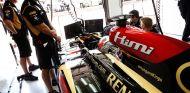 Kimi Räikkönen en el box de Hungría - LaF1