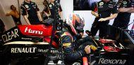 Kimi Räikkönen en el box del Hungaroring