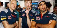 Franz Tost, Daniil Kvyat y Carlos Sainz en Hungaroring - SoyMotor.com