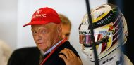 Niki Lauda y Lewis Hamilton en Austin - SoyMotor.com