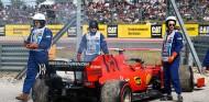 El coche de Charles Leclerc tras su problema en los Libres 3 del GP de Estados Unidos F1 2019 - SoyMotor.com