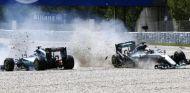 Accidente de Hamilton y Rosberg - LaF1