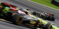 Pastor Maldonado y Romain Grosjean en Brasil - LaF1