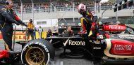 Heikki Kovalainen en la parrilla de salida de Interlagos - LaF1