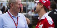Helmut Marko y Sebastian Vettel en Albert Park - SoyMotor.com