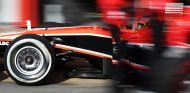 Pit stop de Marussia F1 Team en Barcelona
