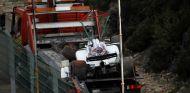 El monoplaza de Massa, tras su accidente en los Libres 1 en Spa -SoyMotor.com