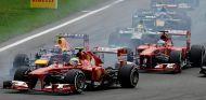 Felipe Massa y Fernando Alonso en el GP de Italia F1 2013 - LaF1