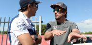 Felipe Massa y Fernando Alonso en Yas Marina - SoyMotor.com