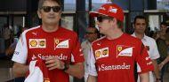 Marco Mattiacci en Abu Dabi, con Kimi Räikkönen - LaF1