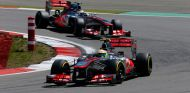 Sergio Pérez y Jenson Button en Alemania