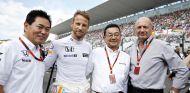 Arai, Button, Hachigo y Dennis posan en la parrilla del GP de Japón - LaF1