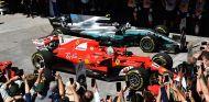 Sebastian Vettel y Valtteri Bottas en Brasil - SoyMotor.com